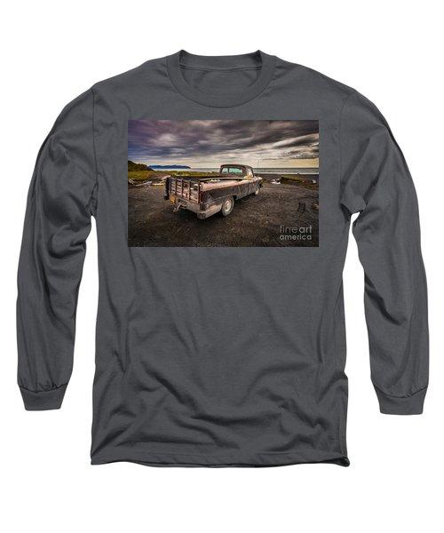 Alaskan Surfer Dudes Truck Long Sleeve T-Shirt by Steven Reed