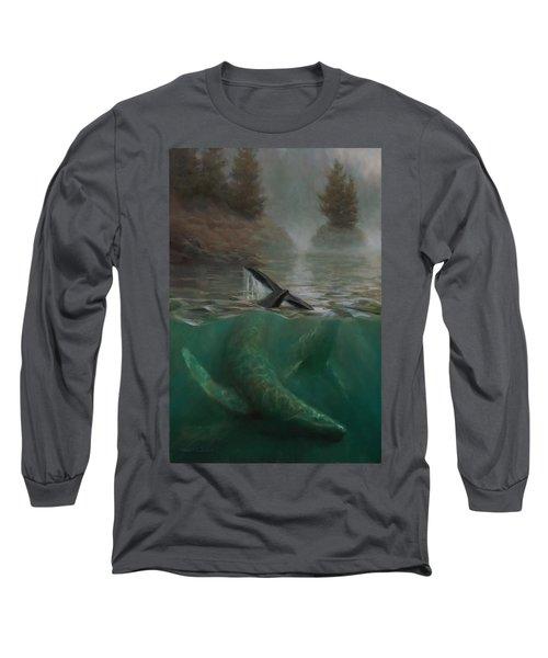 Humpback Whales - Underwater Marine - Coastal Alaska Scenery Long Sleeve T-Shirt