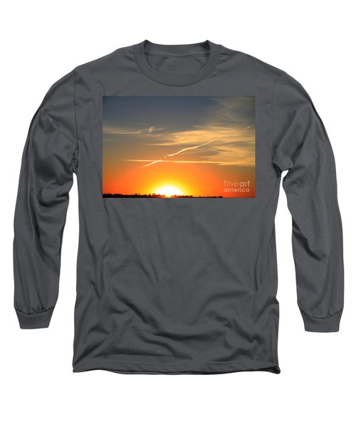 Alberta Sunset Long Sleeve T-Shirt by Alyce Taylor