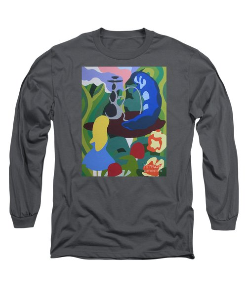 Alice And The Blue Caterpillar Long Sleeve T-Shirt