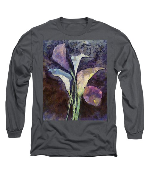 Long Sleeve T-Shirt featuring the painting All The Sadness by Joe Misrasi