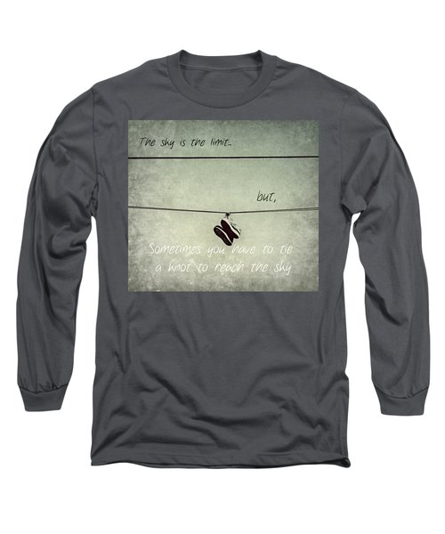 Long Sleeve T-Shirt featuring the photograph All Tied Up Inspirational by Melanie Lankford Photography