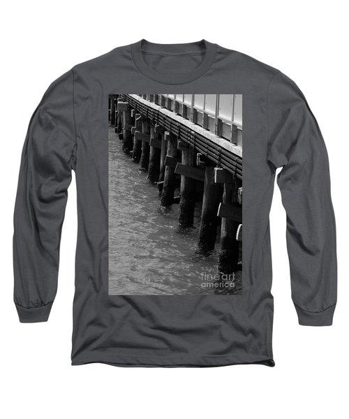 Along The Pier Long Sleeve T-Shirt by Barbara Bardzik