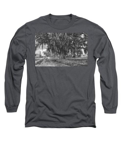 Along The River Road Near Vacherie La Long Sleeve T-Shirt