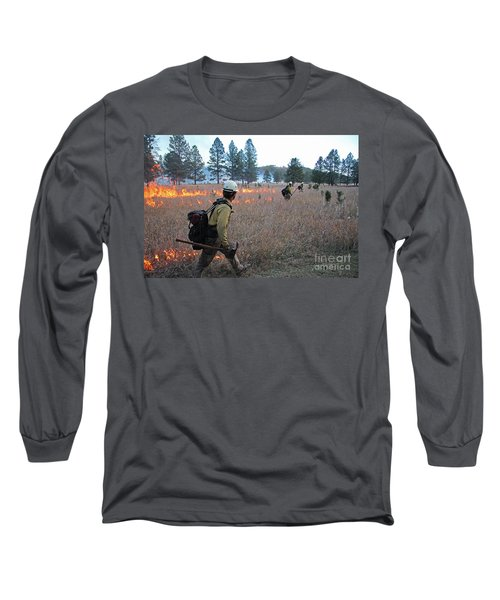 Alpine Hotshots Ignite Norbeck Prescribed Fire Long Sleeve T-Shirt