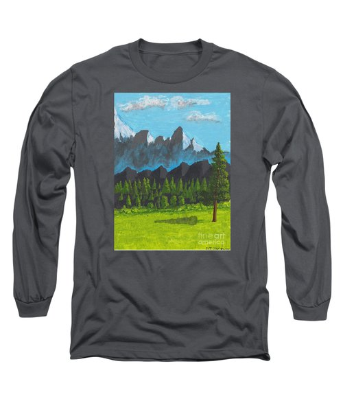 Alpine Meadow Long Sleeve T-Shirt by David Jackson