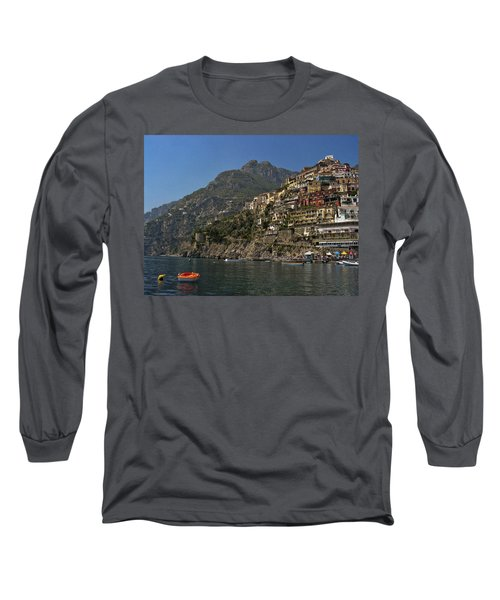 Long Sleeve T-Shirt featuring the photograph Amalfi View by Andrew Soundarajan
