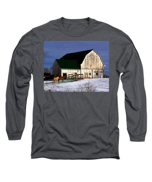 American Barn Long Sleeve T-Shirt by Desiree Paquette