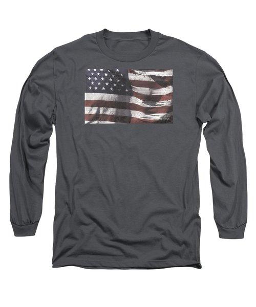 Historical Documents On Us Flag Long Sleeve T-Shirt