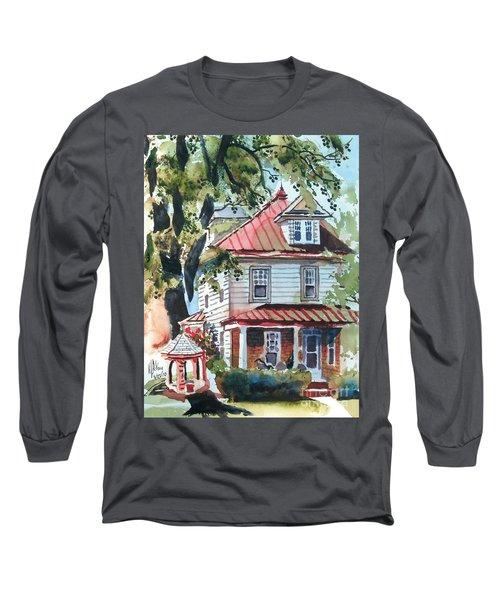 American Home With Children's Gazebo Long Sleeve T-Shirt by Kip DeVore