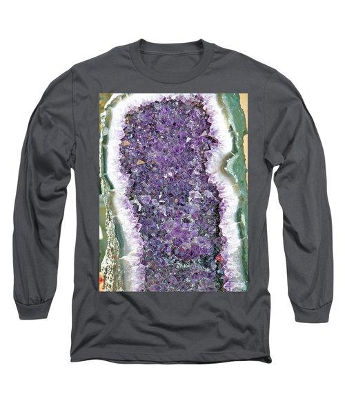 Amethyst Geode Long Sleeve T-Shirt by Tikvah's Hope