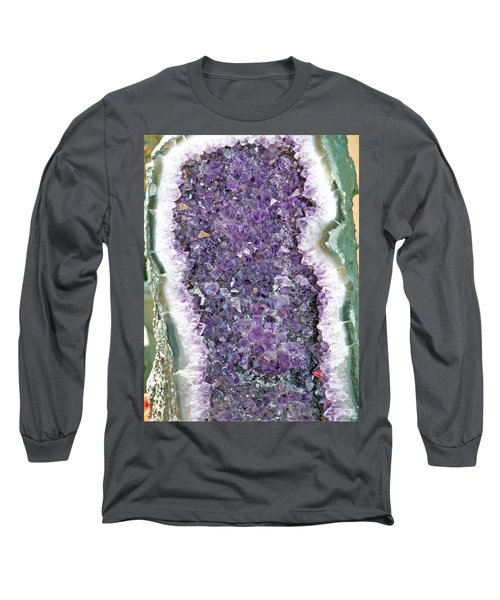 Amethyst Geode Long Sleeve T-Shirt