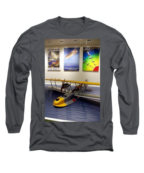Amphibious Plane And Era Posters Long Sleeve T-Shirt