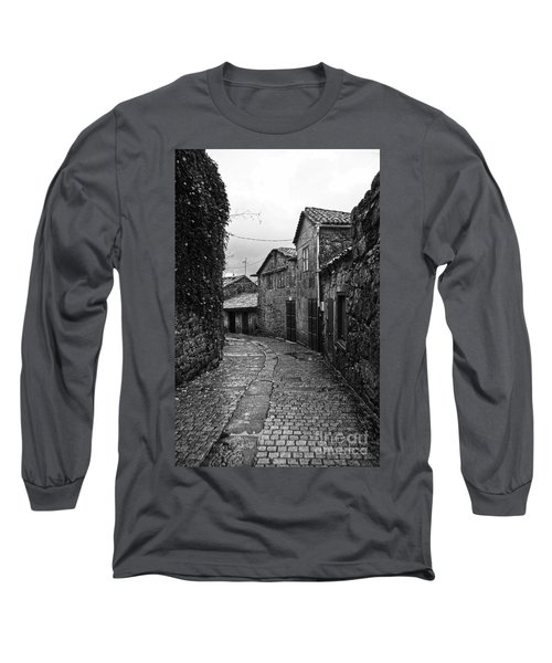 Ancient Street In Tui Bw Long Sleeve T-Shirt