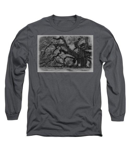 Angel Oak B And W Long Sleeve T-Shirt