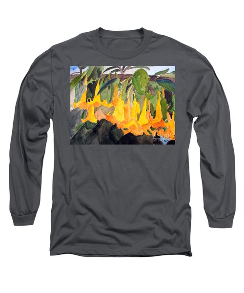 Angel Trumpets Long Sleeve T-Shirt by Sandy McIntire