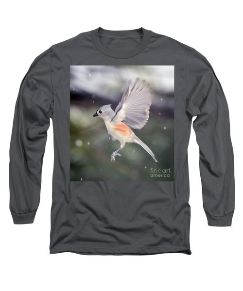 Angel Wings Long Sleeve T-Shirt by Kerri Farley