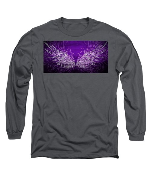 Angel Wings Royal Long Sleeve T-Shirt