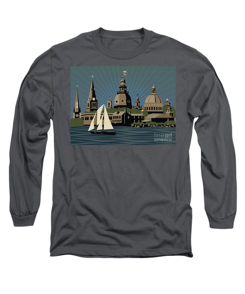 Annapolis Steeples And Cupolas Serenity Long Sleeve T-Shirt