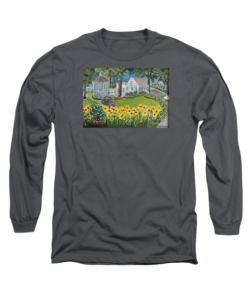 Annie's Summer Cottage Long Sleeve T-Shirt by Rita Brown