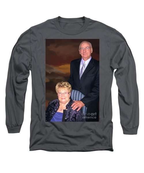 Long Sleeve T-Shirt featuring the painting Anniversary Portrait by Tim Gilliland