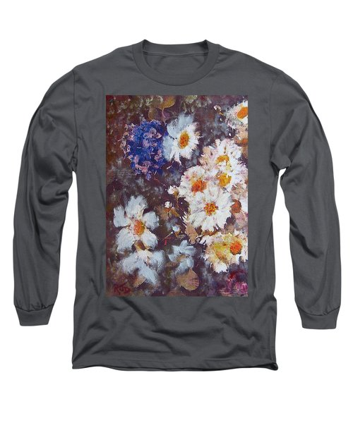 Another Cluster Of Daisies Long Sleeve T-Shirt by Richard James Digance