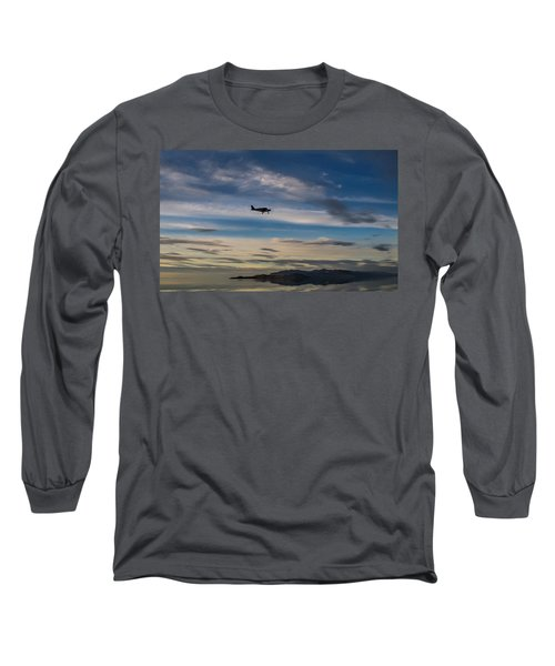Long Sleeve T-Shirt featuring the photograph Antelope Island - Lone Airplane by Ely Arsha