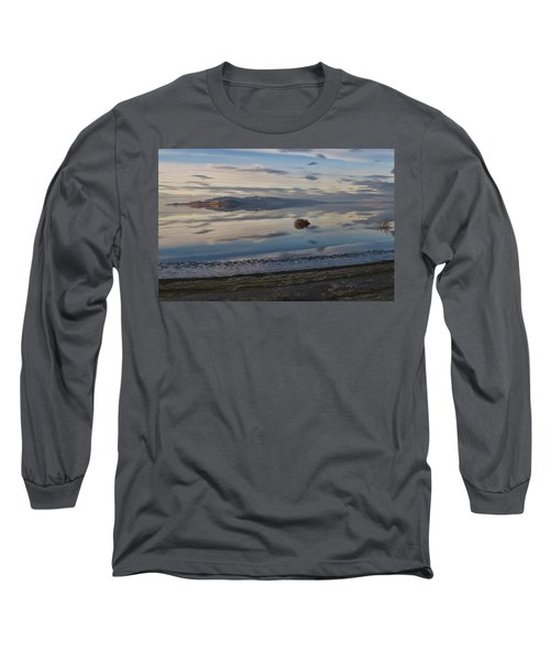 Long Sleeve T-Shirt featuring the photograph Antelope Island - Lone Tumble Weed by Ely Arsha