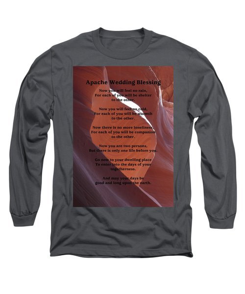 Apache Wedding Blessing On Canyon Photo Long Sleeve T-Shirt