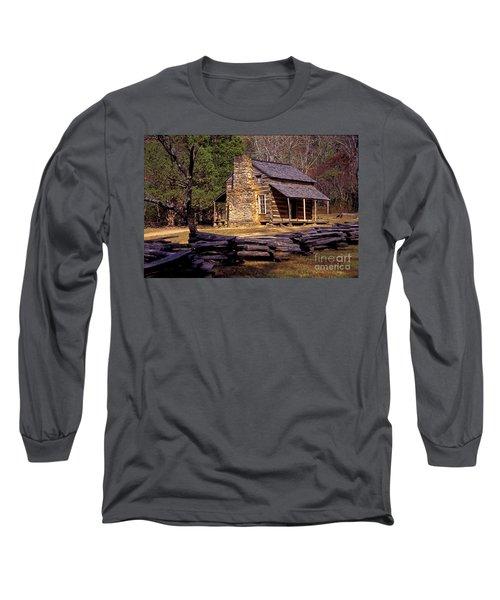 Appalachian Homestead Long Sleeve T-Shirt by Paul W Faust -  Impressions of Light