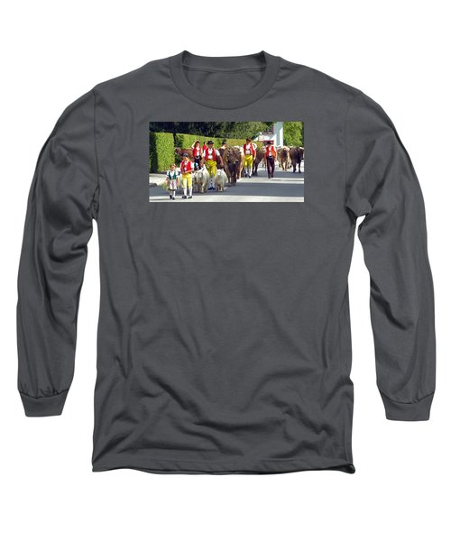 Appenzell Parade Of Cows Long Sleeve T-Shirt