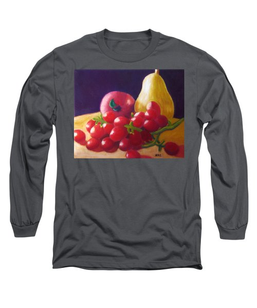 Apple Pear Grapes Long Sleeve T-Shirt