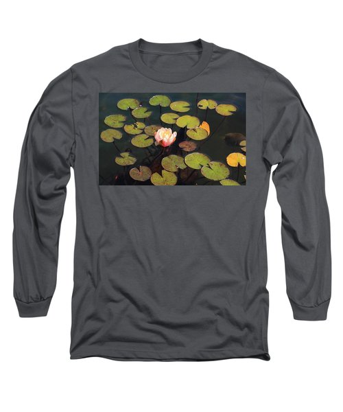 Aquatic Garden With Water Lily Long Sleeve T-Shirt