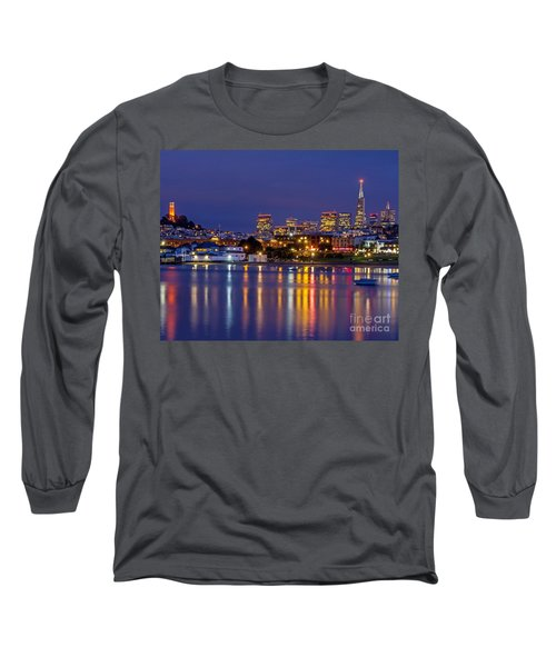 Long Sleeve T-Shirt featuring the photograph Aquatic Park Blue Hour by Kate Brown