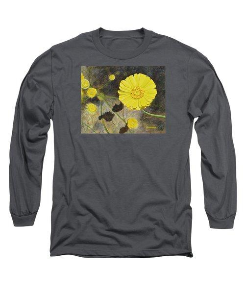 Arboretum Wild Flower  Long Sleeve T-Shirt by Donna  Manaraze
