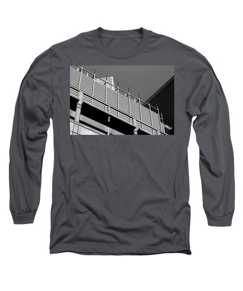 Architectural Lines Black White Long Sleeve T-Shirt