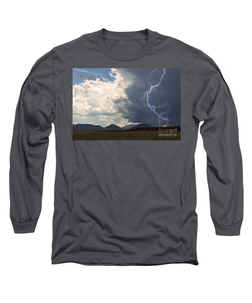 Arizona Desert Lightning  Long Sleeve T-Shirt by Janice Rae Pariza