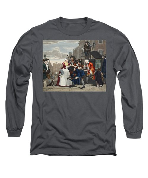 Arrested For Debt, Plate V From A Rakes Long Sleeve T-Shirt