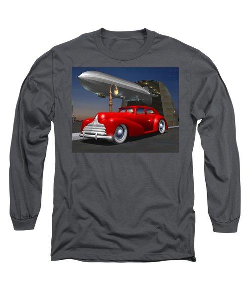 Art Deco Sedan Long Sleeve T-Shirt by Stuart Swartz