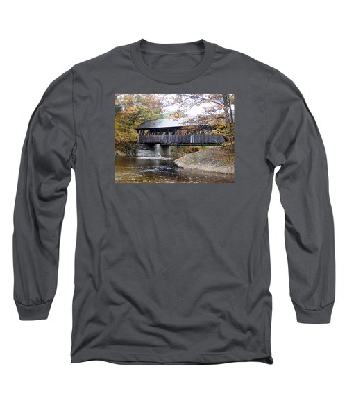 Artist Covered Bridge Long Sleeve T-Shirt by Catherine Gagne