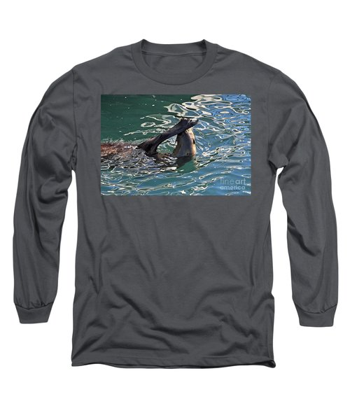 Artsy Sea Lion Long Sleeve T-Shirt