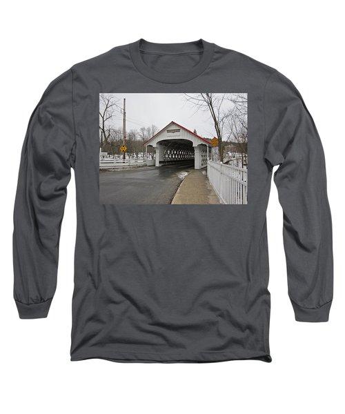 Ashuelot Bridge Long Sleeve T-Shirt by MTBobbins Photography