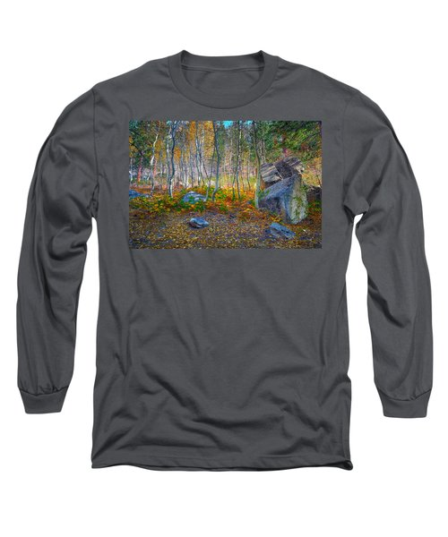 Long Sleeve T-Shirt featuring the photograph Aspen Grove by Jim Thompson