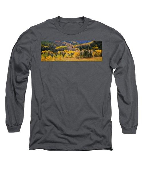 Aspen Trees In A Field, Telluride, San Long Sleeve T-Shirt
