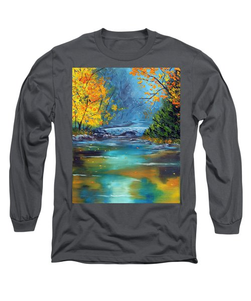 Long Sleeve T-Shirt featuring the painting Assurance by Meaghan Troup