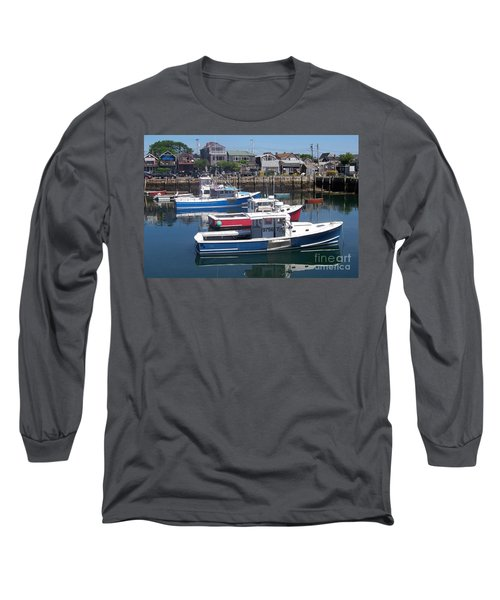 Long Sleeve T-Shirt featuring the photograph Colorful Boats by Eunice Miller
