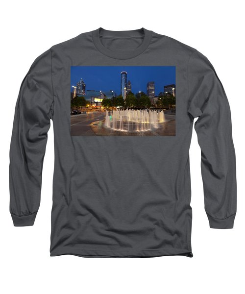 Atlanta By Night Long Sleeve T-Shirt by Alexey Stiop