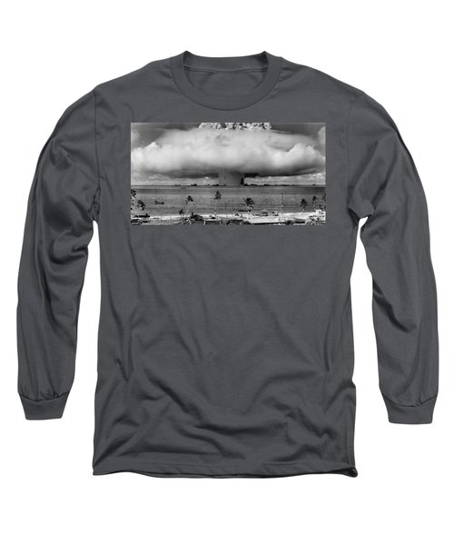 Atomic Bomb Test Long Sleeve T-Shirt by Mountain Dreams