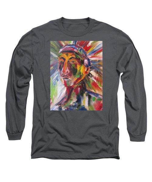 Atsila, Native American Long Sleeve T-Shirt