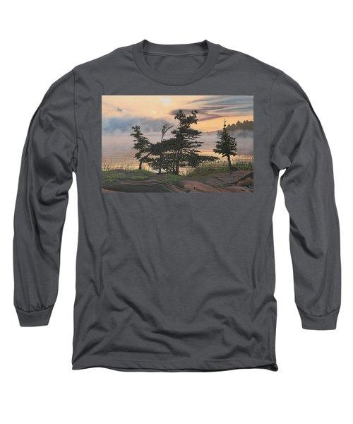 Auburn Evening Long Sleeve T-Shirt by Kenneth M  Kirsch
